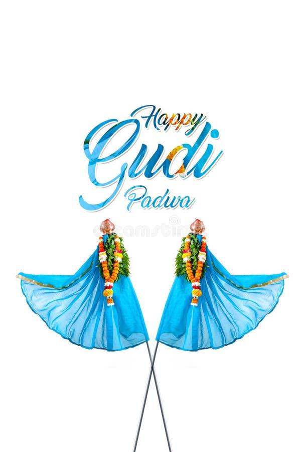 Het Nieuwjaar van Gudipadwa Marathi stock afbeeldingen