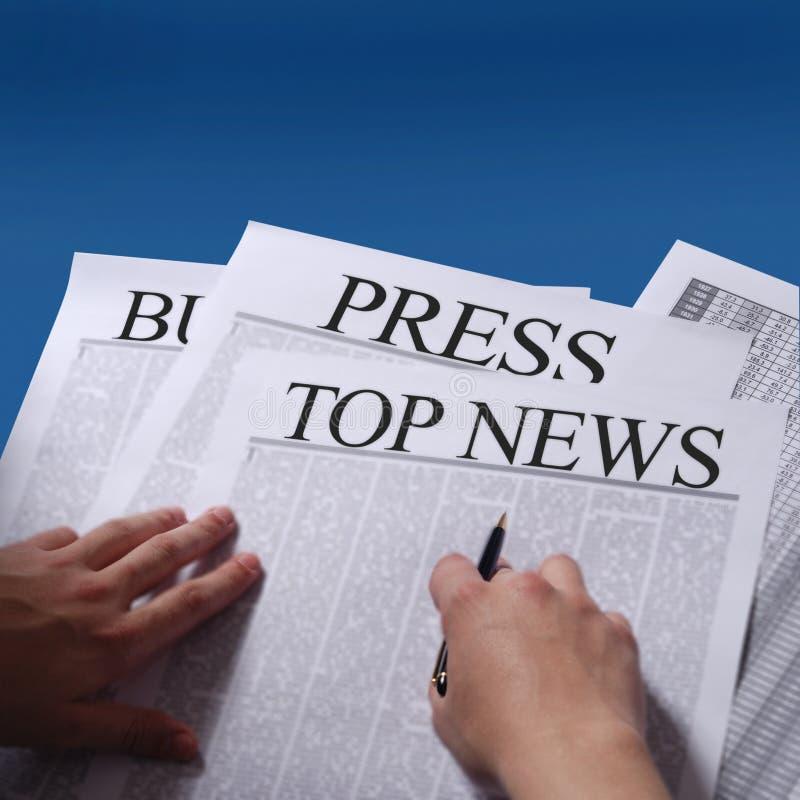 Het nieuws van de pers royalty-vrije stock foto's