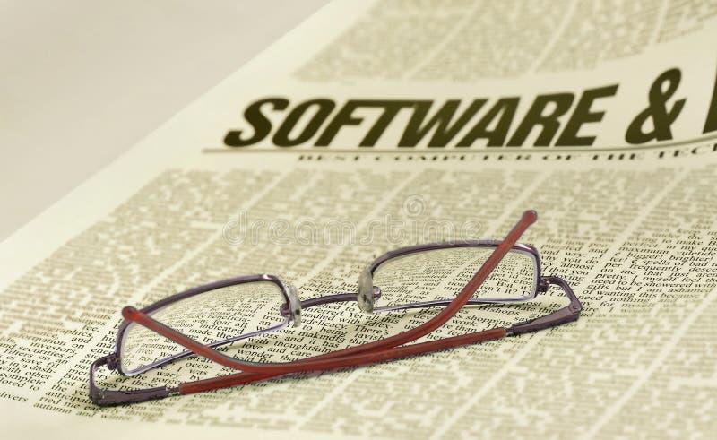 Het nieuws van de software stock afbeeldingen