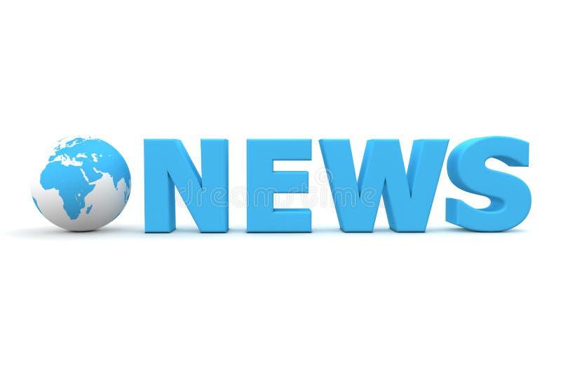 Het Nieuws van de wereld vector illustratie