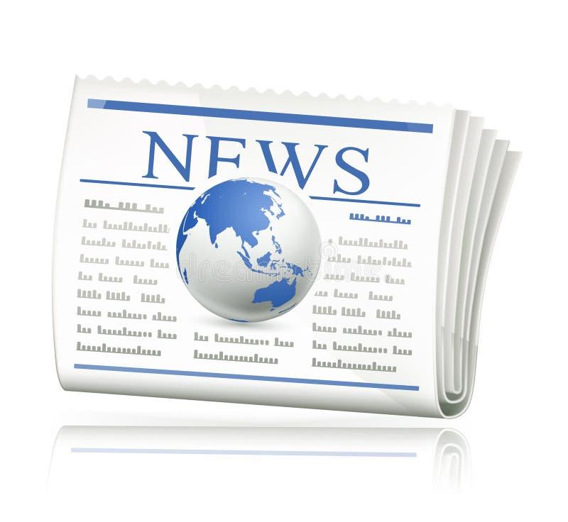 Het nieuws van de wereld stock illustratie