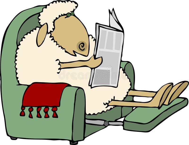 Het nieuws van schapen vector illustratie