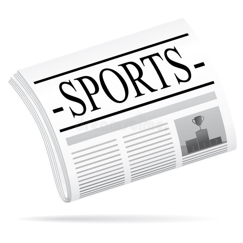 Het nieuws van sporten. vector illustratie