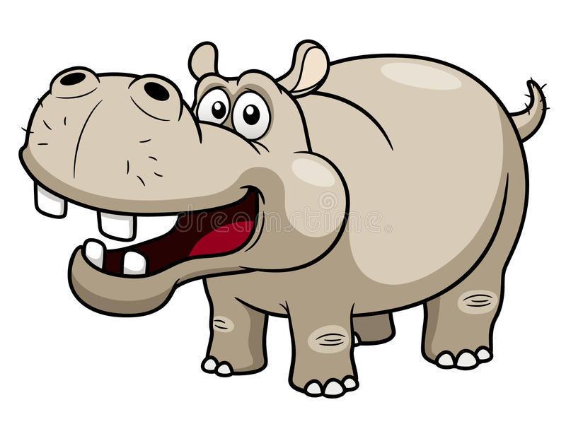 Het Nijlpaard van het beeldverhaal stock illustratie