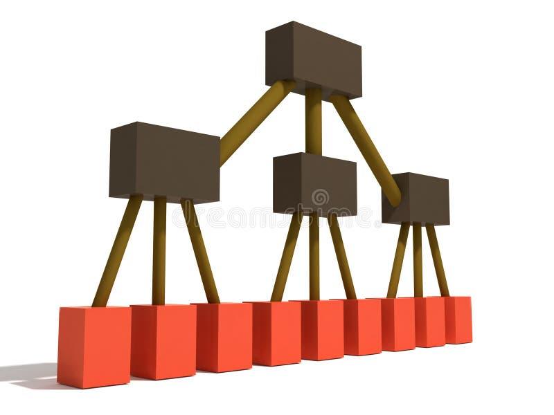 Het niveau van de ingang vector illustratie