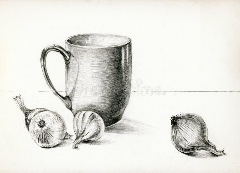 Het nog-leven 2 van keukens royalty-vrije illustratie