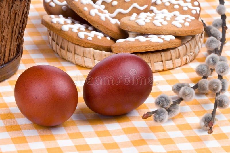 Het nog-leven van Pasen met eieren stock afbeeldingen