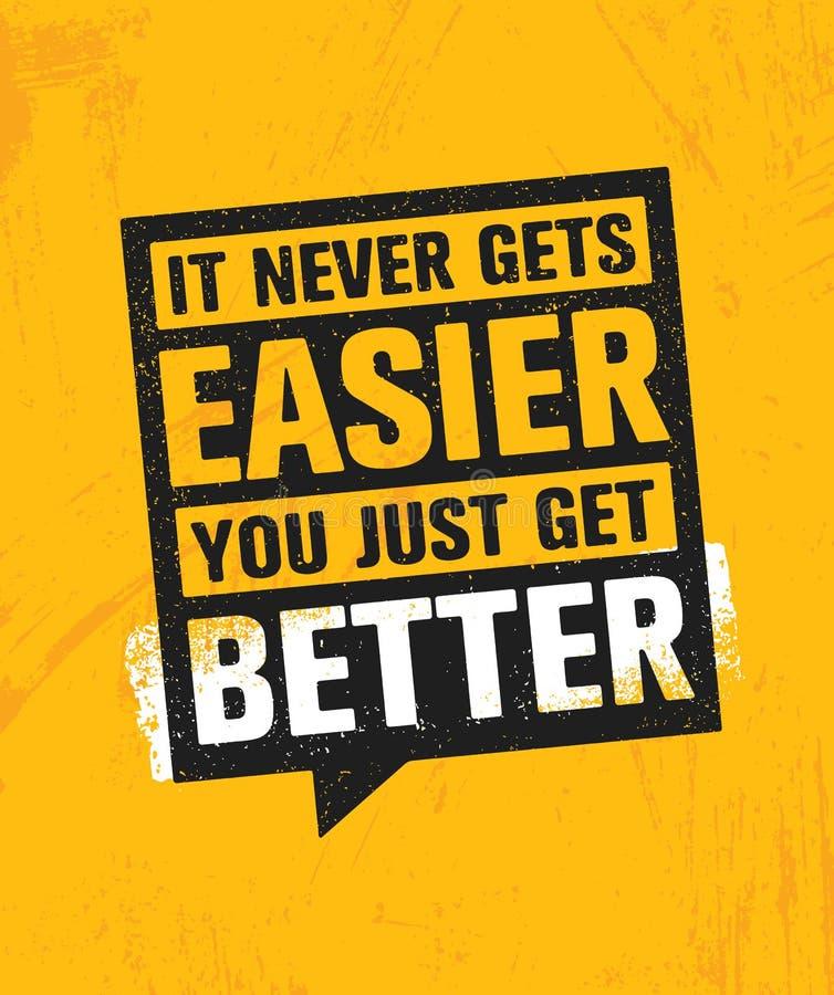 Het nooit wordt Gemakkelijker u enkel beter wordt Training en van de Geschiktheidsgymnastiek het Concept van het Ontwerpelement C stock illustratie