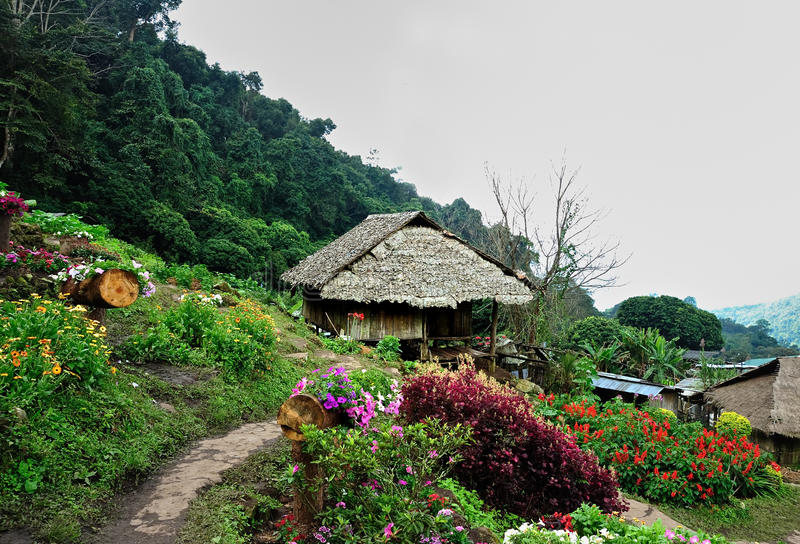 Het noordelijke platteland van Thailand stock afbeeldingen