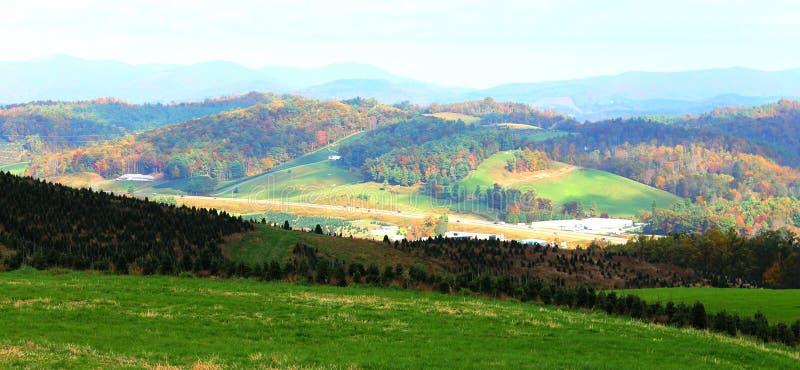 Het noorden Carolina Countryside in de Herfst stock afbeelding