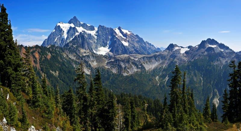 Het noorden drapeert groot panorama, Washington stock foto