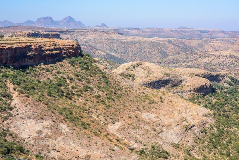 Het noorden Ethiopische bergen stock afbeeldingen