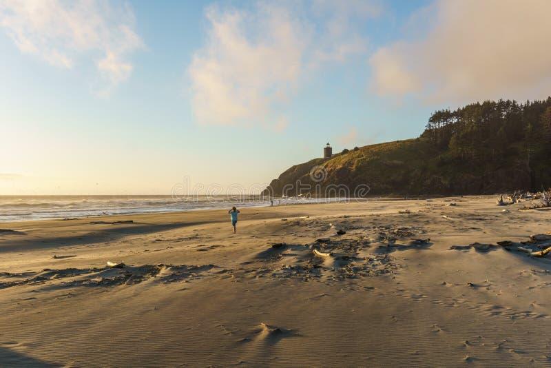 Het noorden Hoofdvuurtoren van het park van de staat van de Kaapteleurstelling Washington de V.S. royalty-vrije stock fotografie