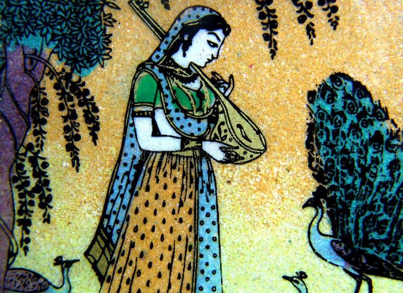 Het noorden het Indische steen schilderen royalty-vrije stock foto