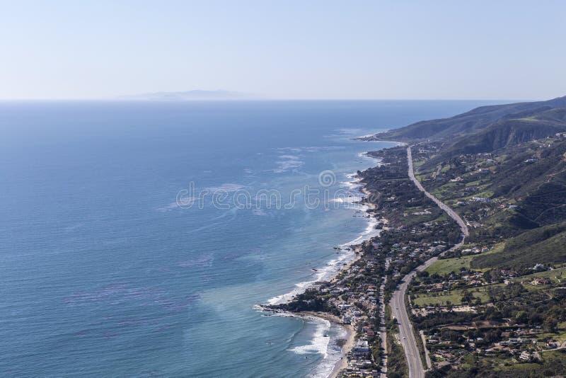 Het Noorden Malibu Californië van de vreedzame Kustweg stock afbeelding