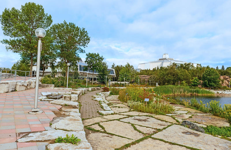 Het Noorden van het Centrum van de wetenschap in Sudbury, Ontario-Canada stock afbeelding