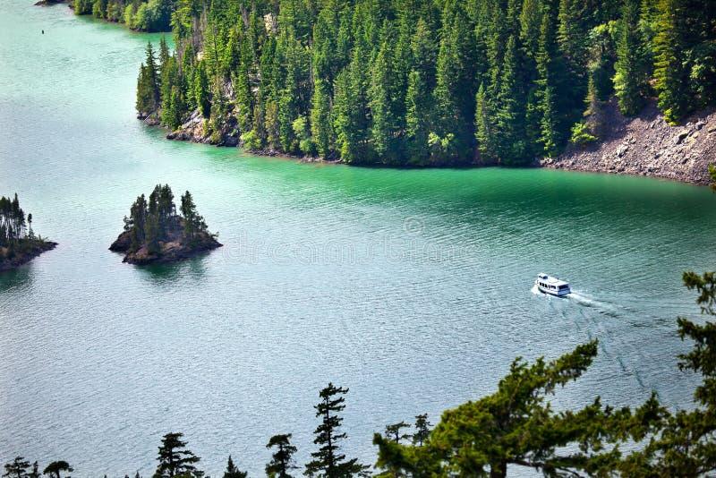 Het Noorden van het Meer van Diablo drapeert Natl Park Washington stock foto