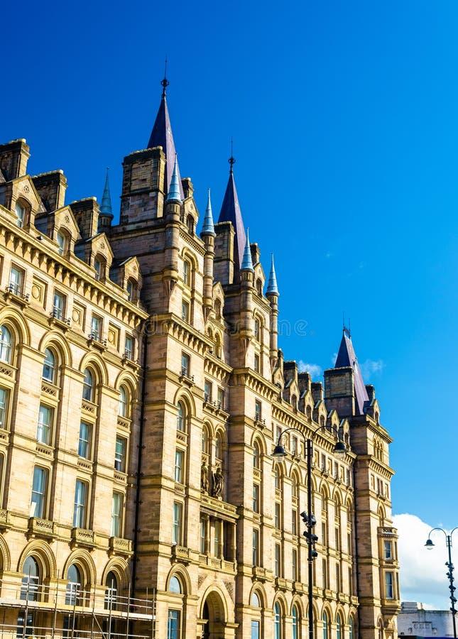Het noorden Westelijk Hotel, historische gebouwen op Kalkstraat royalty-vrije stock foto's