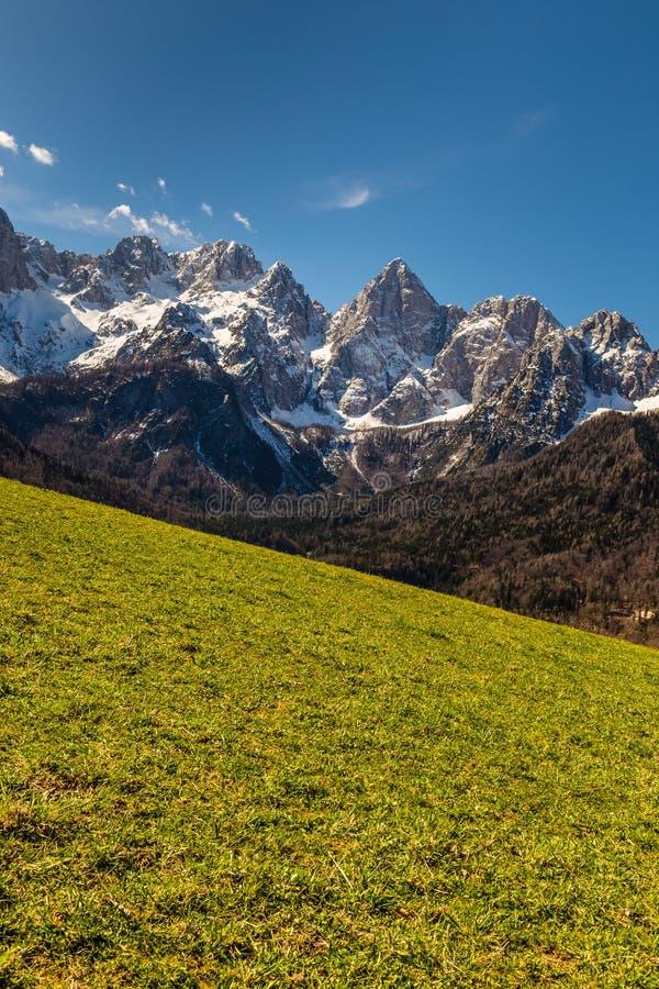Het Noordengezicht van de Spikberg van martuljek-Slovenië stock fotografie
