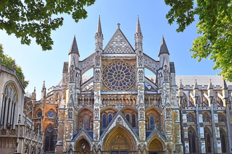 Het noordeningang van de Abdij van Westminster in Londen royalty-vrije stock foto's