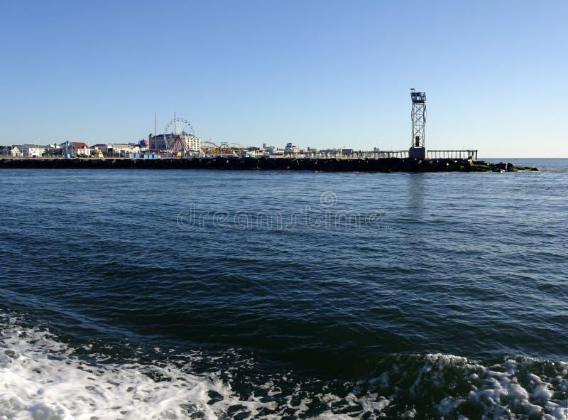 Het noordenpier van Oceaanstad Maryland stock fotografie