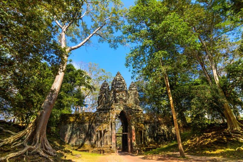 Het noordenpoort van Ankor Thom royalty-vrije stock fotografie