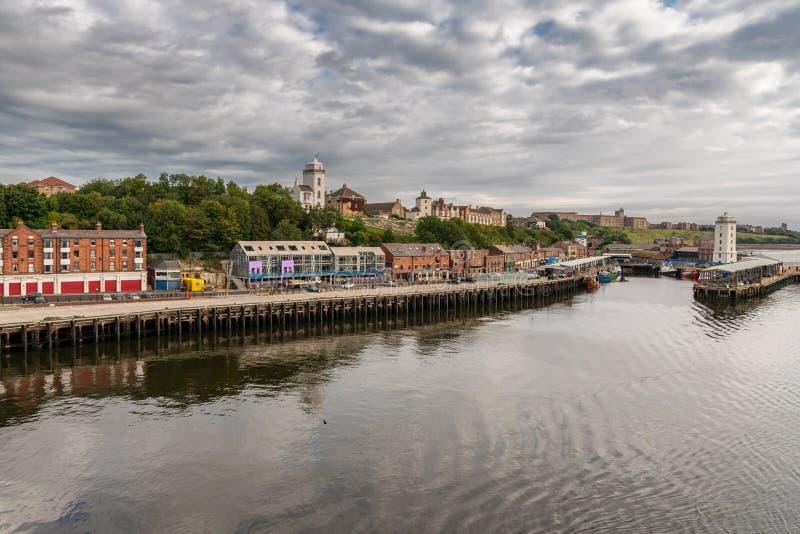 Het noordenschilden, de Tyne en Slijtage, Engeland, het UK stock afbeelding