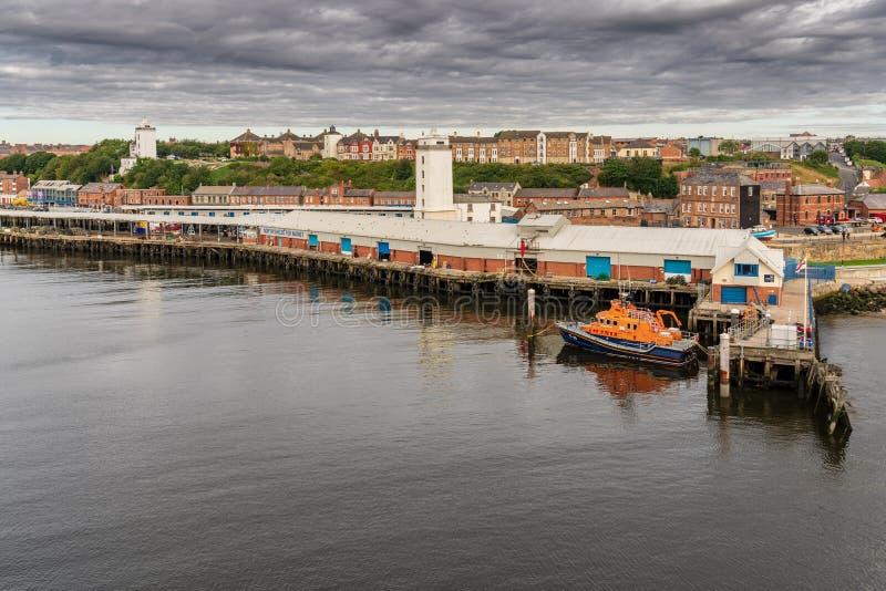 Het noordenschilden, de Tyne en Slijtage, Engeland, het UK stock fotografie