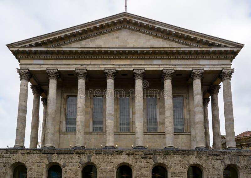 Het noordenvoorgevel van het Stadhuis van Birmingham stock foto