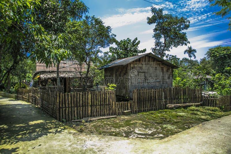 Het noordoostelijke dorpshuis van India royalty-vrije stock fotografie