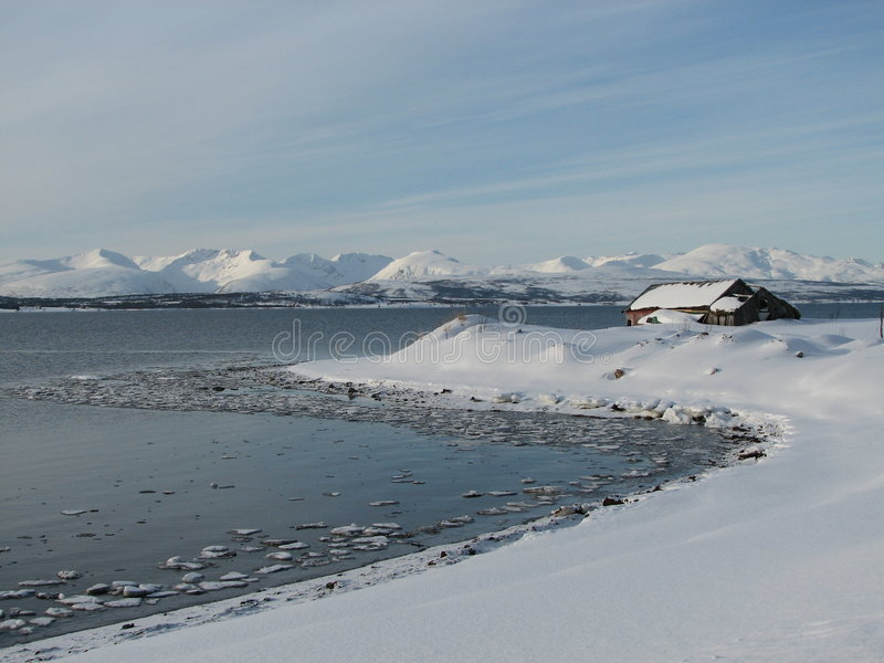 Het noordpool Sprookjesland van de Winter stock foto