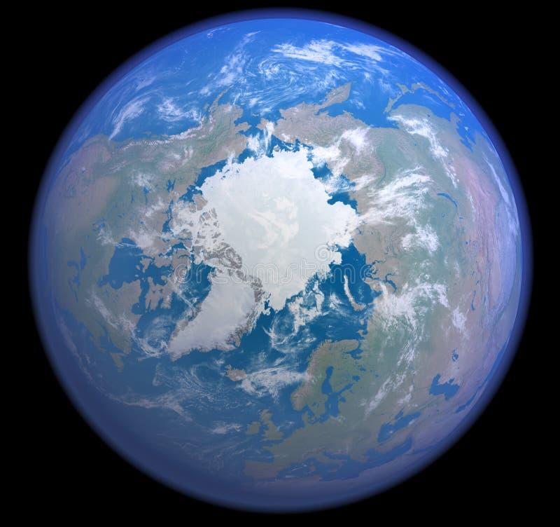Het noordpoolgebied van ruimte stock illustratie