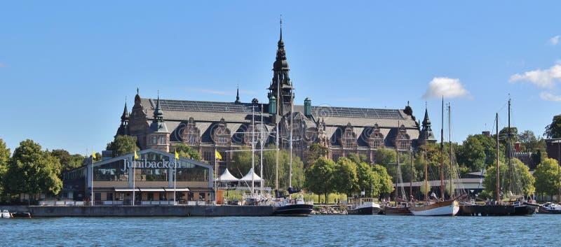 Het Noordse Museum in Stockholm stock afbeelding
