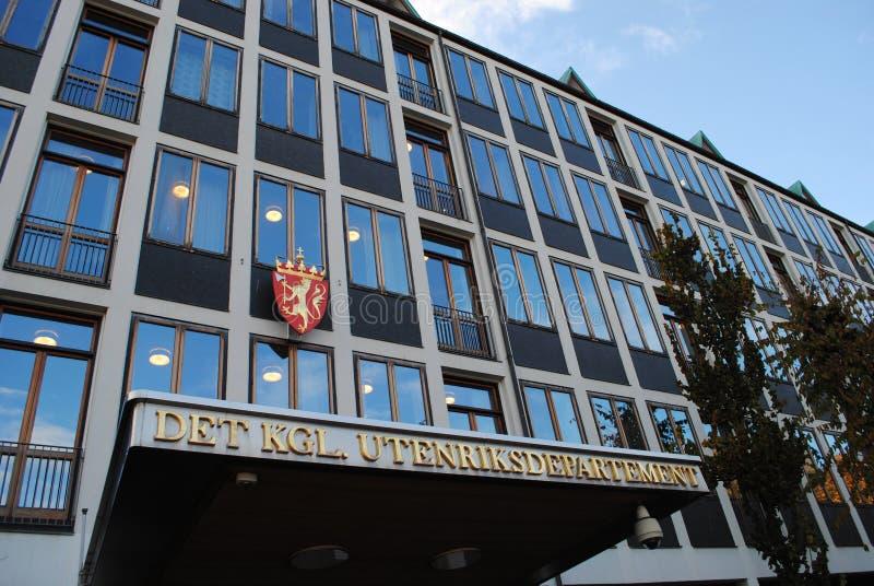 Het Noorse Ministerie van buitenlandse zaken stock afbeelding