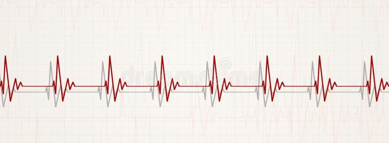 Het normale hart slaat illustratie royalty-vrije illustratie