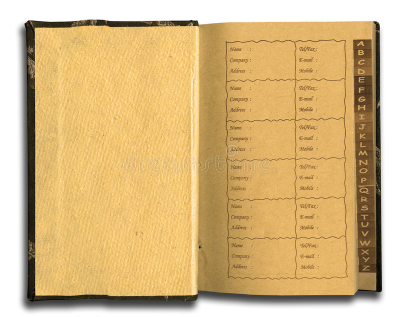 Het notitieboekje van de telefoon royalty-vrije stock foto