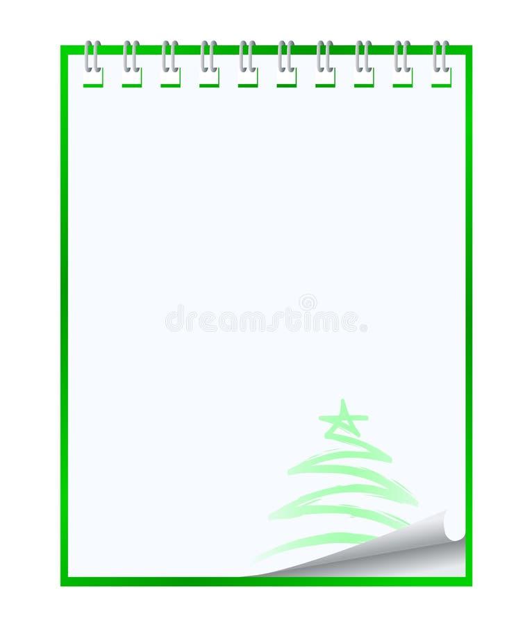 Het notitieboekje van het document stock illustratie