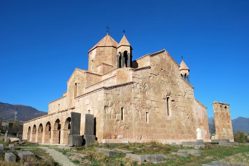 Het Odzun-Klooster in het Odzun-dorp, Lori Province, Wapen stock foto