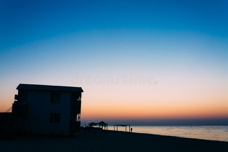 Het Oekraïense centrum van de toeristenrecreatie op kust, het gebied van Odessa stock foto