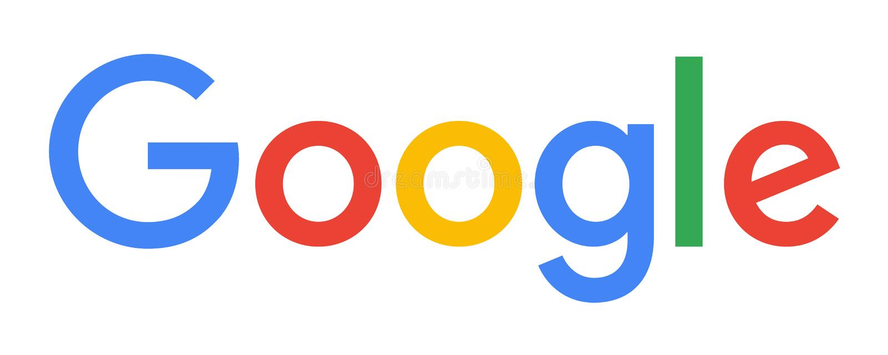 Het officiële embleem van Google vector illustratie