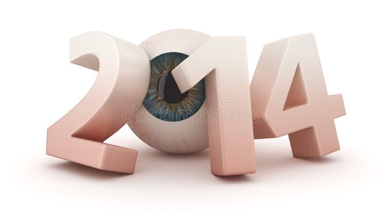 Het Oftalmologische Jaar Van 2014 Stock Fotografie