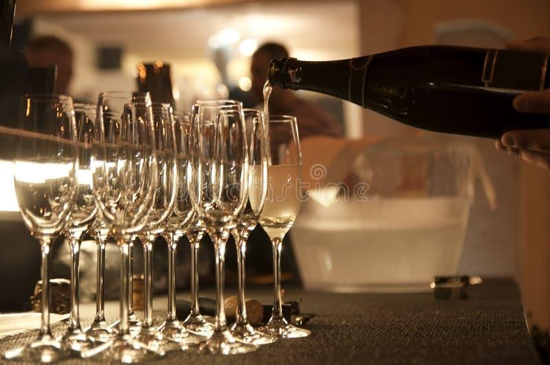 Het ogenblik van Champagne royalty-vrije stock afbeelding