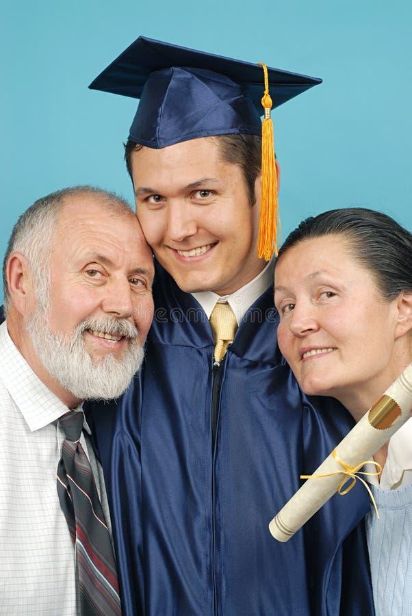 Het ogenblik van de graduatie stock afbeeldingen