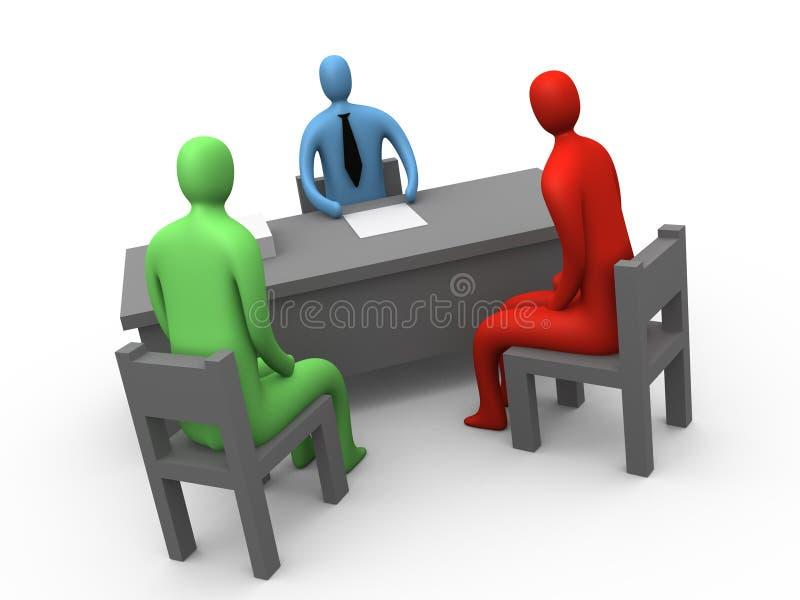 Het Ogenblik van het bureau #2 stock illustratie