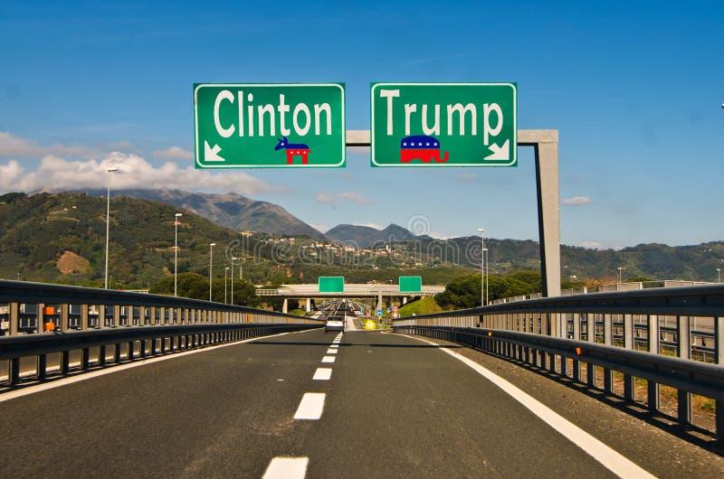 Het ogenblik van keus, de Troef van Clinton ot royalty-vrije stock foto