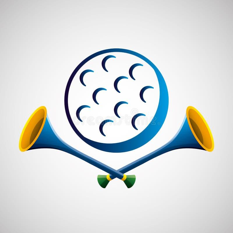Het olympische blauwe kenteken van de golfsport stock illustratie