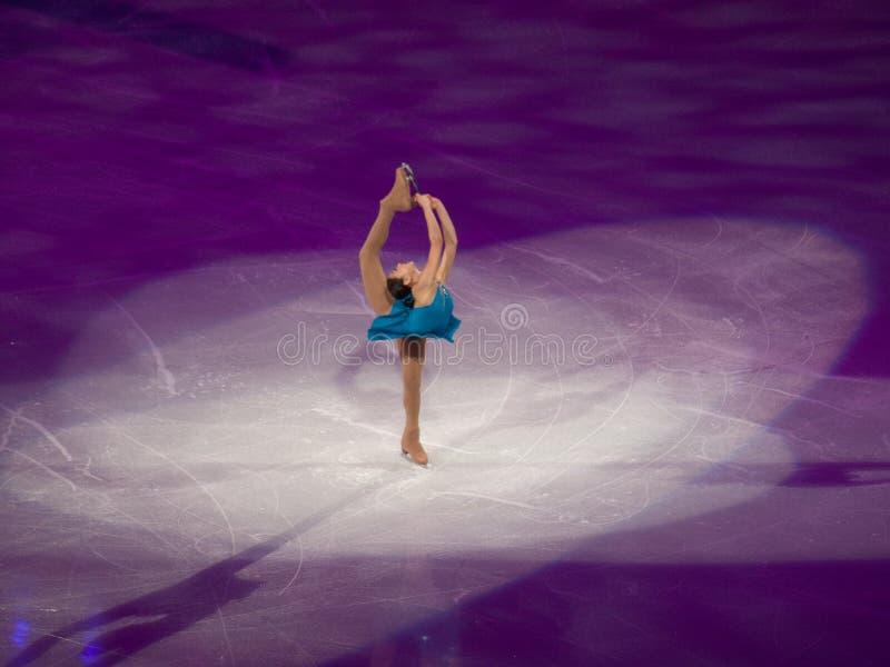 Het Olympische Feest van kunstschaatsen - Mirai Nagasu stock foto