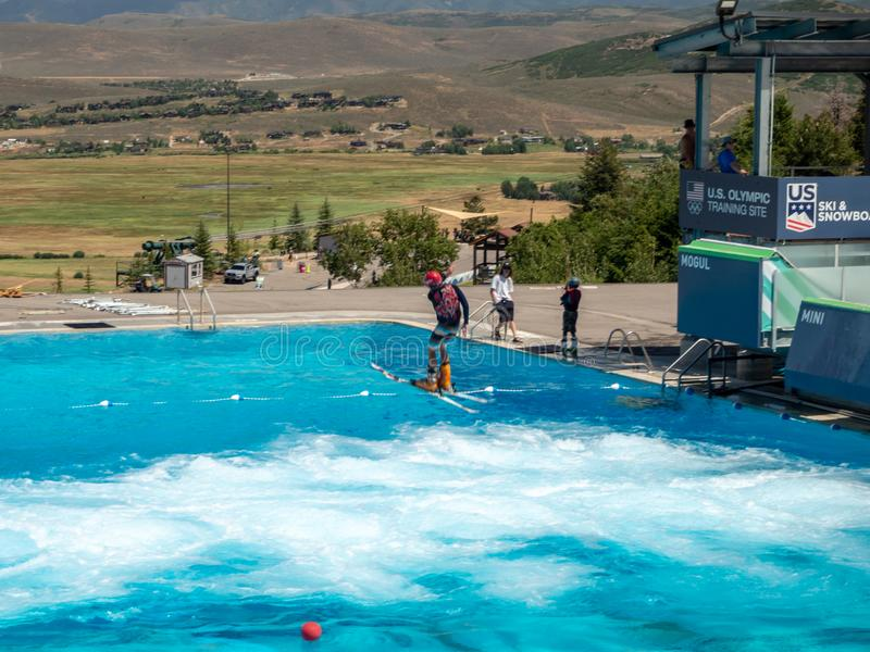 Het Olympische Park van Salt Lake/van de Parkstad, Utah, Verenigde Staten: [skisprongen en bob in het Olympische parkmuseum royalty-vrije stock afbeelding