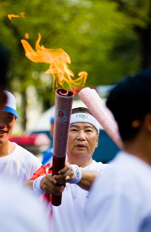Het olympische Relais van de Toorts stock afbeelding