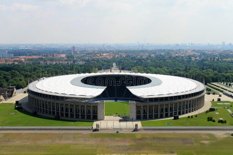 Het Olympische stadion van Berlijn. stock foto's